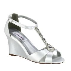 Codi White Satin Open Toe Womens Bridal Sandals - Shoes from Dyeables by Dyeables