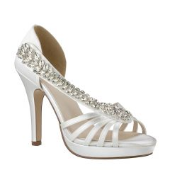Delaney White Womens Open Toe Bridal Platform|Sandal -  Shoes from Dyeables by Benjamin Walk