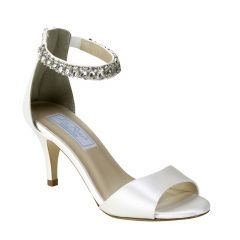Florence White Silk Open Toe Womens Bridal Sandals - Shoes from Liz Rene by Benjamin Walk