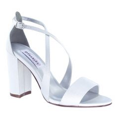 Micah White Crepe Open Toe Womens Bridal Sandals - Shoes from Dyeables by Benjamin Walk