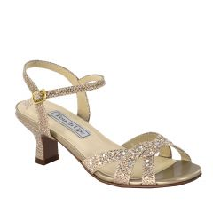 Scout Champagne Glitter Open Toe Children's Evening / Prom Sandals - Shoes from Touch Ups by Benjamin Walk