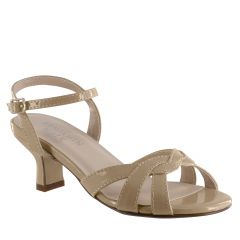 Lexie Nude Patent Open Toe Children's Pageant / Evening / Prom Sandals - Shoes from Touch Ups by Benjamin Walk