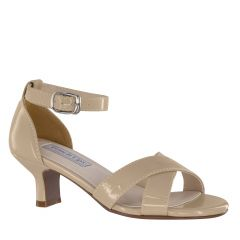 Suzy Nude Patent Open Toe Children's Pageant / Evening / Prom Sandals - Shoes from Touch Ups by Benjamin Walk