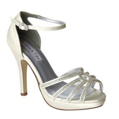 Vaille White Satin Open Toe Womens Bridal Sandals - Shoes from Touch Ups by Benjamin Walk